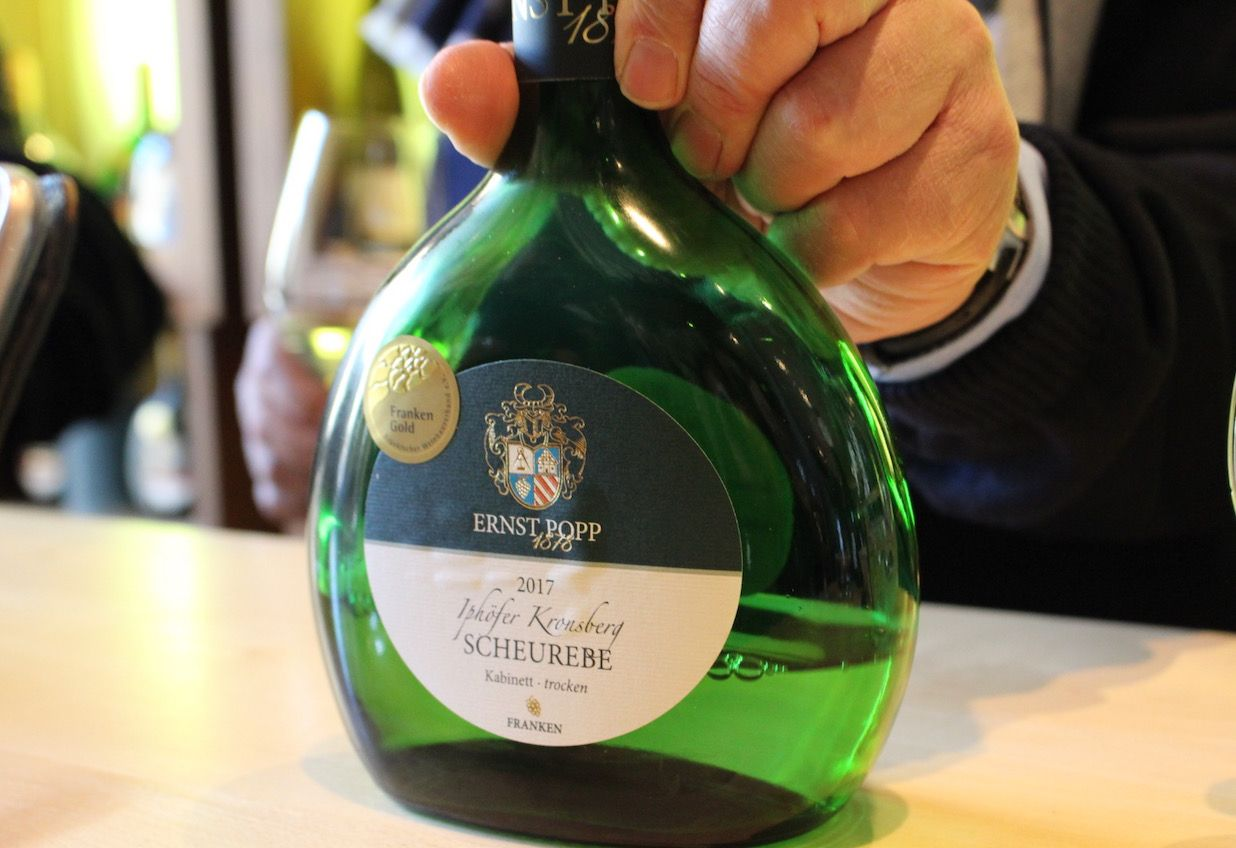 フランケンワインはアレの形のボトルが目印