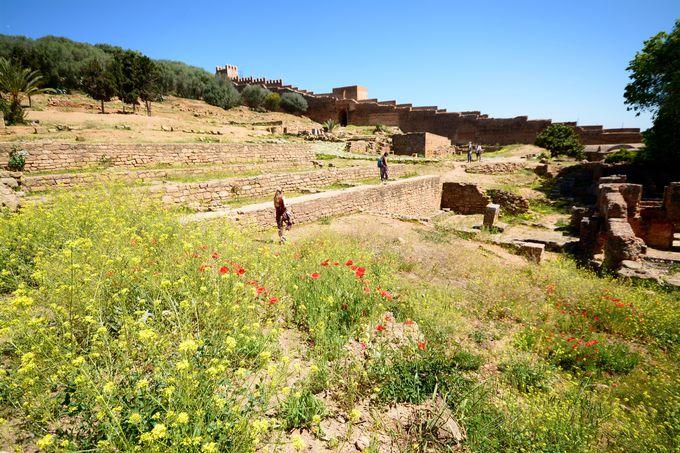 約2000年前に作られた古代ローマの都市の跡