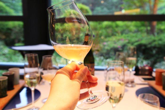 ディナーはワインとのマリア—ジュを