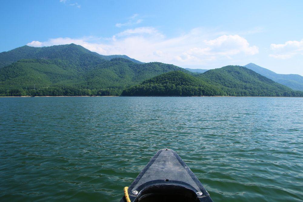 少し遠出してのんびりカヌー体験