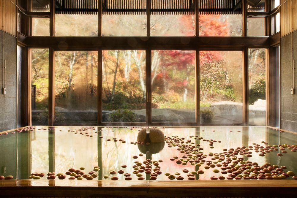 5.秋限定のりんご湯でほっと一息