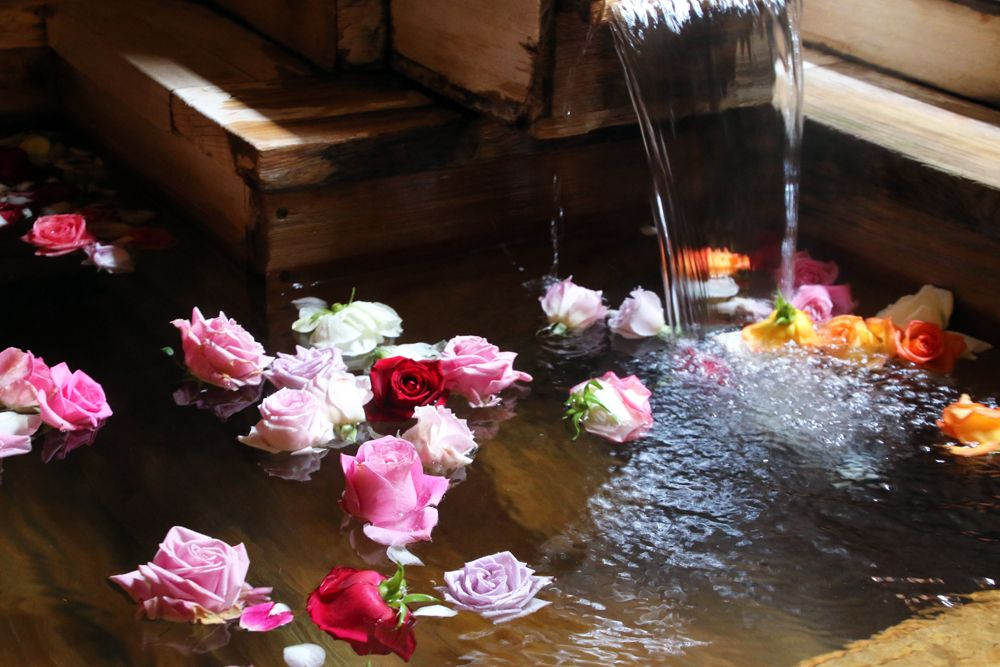8.「道後山の手ホテル」で美人の湯×バラ風呂を堪能