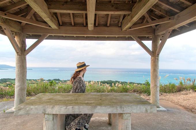小浜島の絶景を見るならここ。「大岳」と「西大岳」とは