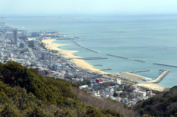 須磨海岸を一望する須磨山上遊園