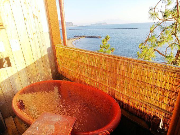 空と海を感じる客室露天とインフィニティ露天【天空野天風呂】