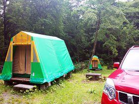 岐阜「平湯キャンプ場」温泉&常設テント泊で森のキャンプデビュー