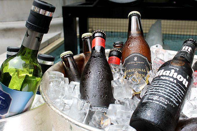 ワイングラスで楽しむセレブビールも