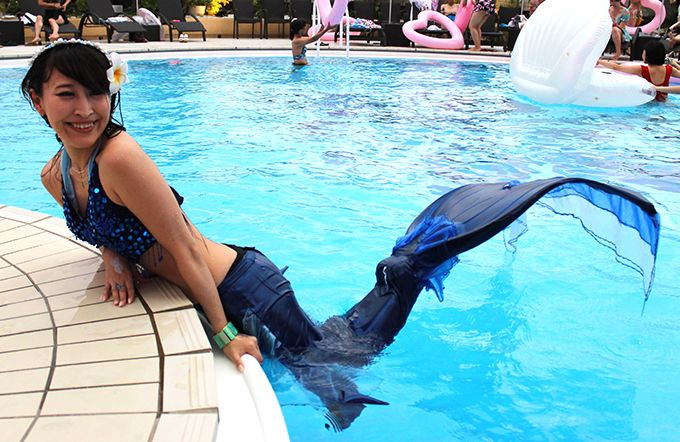 人魚姫とフォトジェニックな写真を