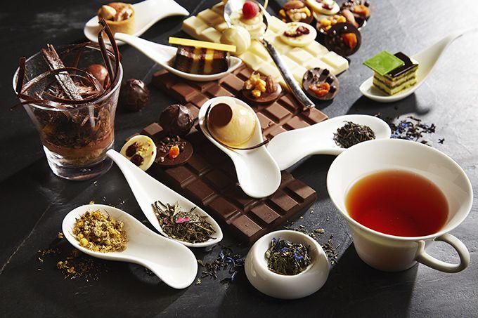 ホテルならでは高級チョコと高級ティー使用