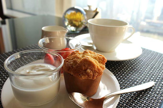 ゆったりおしゃべりしながら優雅に朝食を