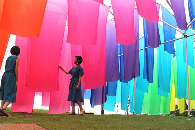 びわ湖を望む絶景に虹のカーテンも