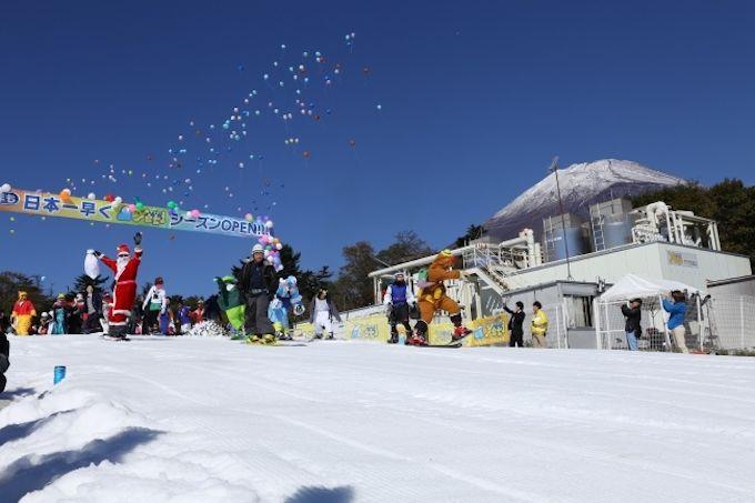 国内最速オープン!スキー場「イエティ」が10月19日に営業開始
