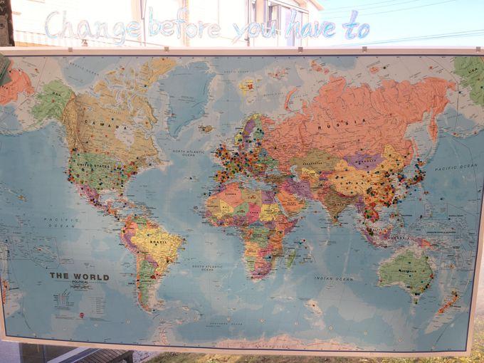 世界の国から旅人が集まる国際的な宿泊施設