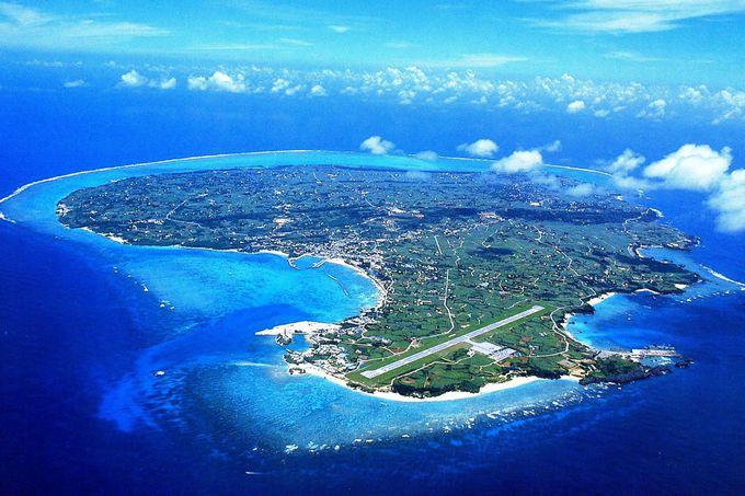 沖縄最北端の沖合に浮かぶ絶海の孤島・与論島