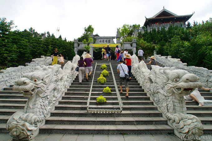 バナヒルズのベストショットはベトナム寺院ゾーンで