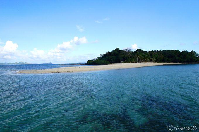その2:アプリット島宿泊者限定のシークレット・ビーチ「イスラ・ブランカ」