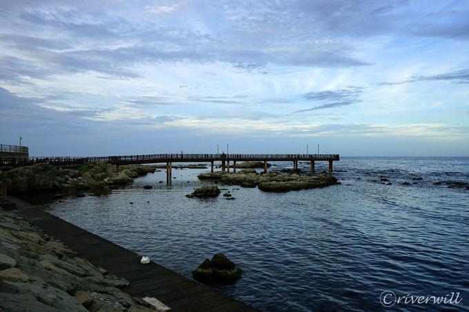 桟橋のボードウォークを歩いてみよう