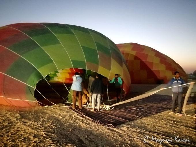 まずはルクソール市内から気球乗り場へ移動