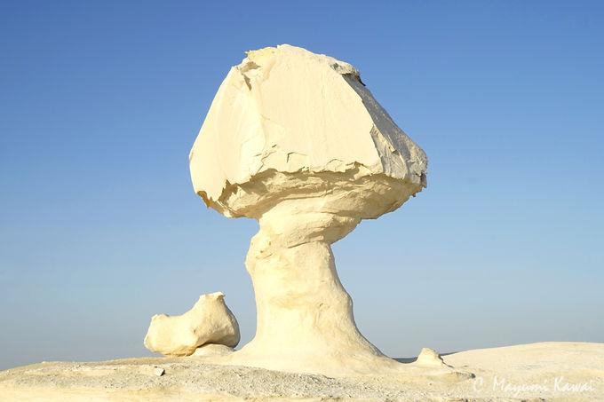 エジプトの秘境!オアシスの果てに広がる白砂漠