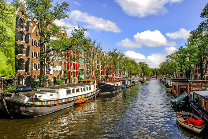 KLMオランダ航空の経由便だとアムステルダム観光も楽しめる