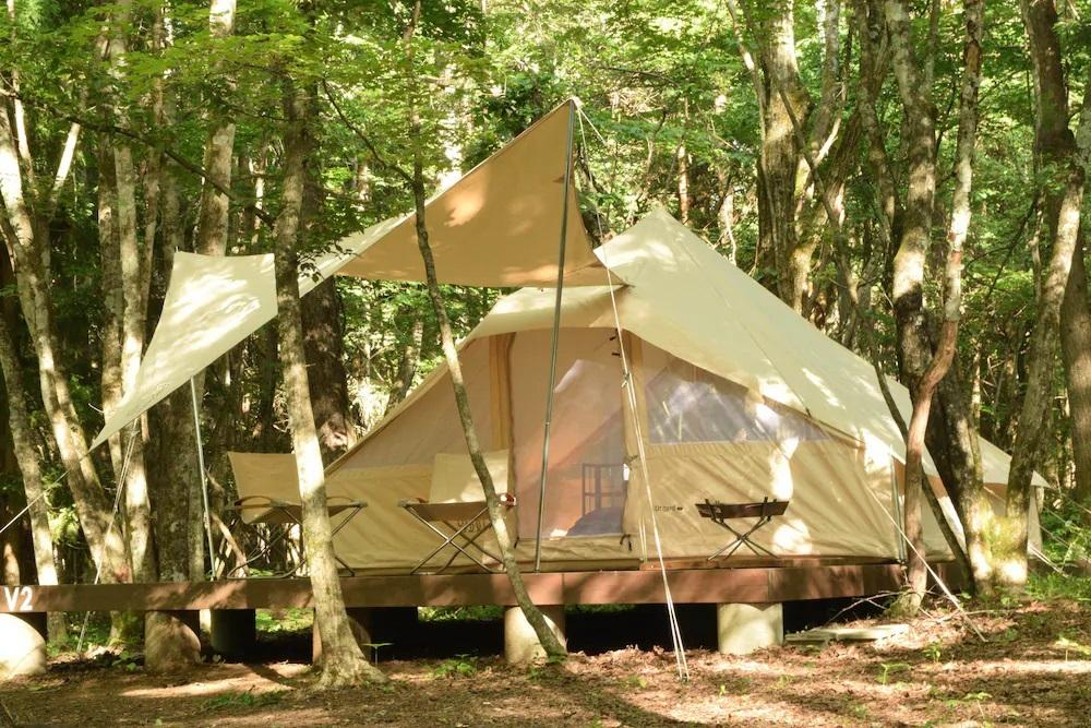 テントだけじゃない!多種多様な宿泊施設