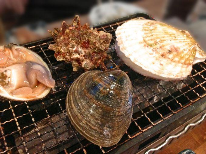 熱々、ふ〜ふ〜美味しい海鮮浜焼き