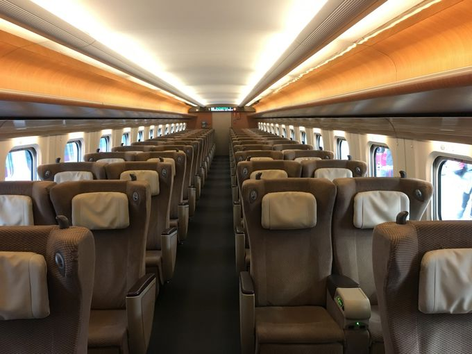 新幹線の座席の配置は?
