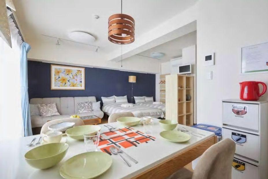 7.北欧風インテリアの明るいお部屋、キッチン充実
