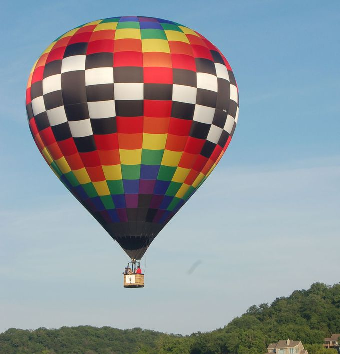 12. 夜明けとともに、気球に乗って空中散歩する