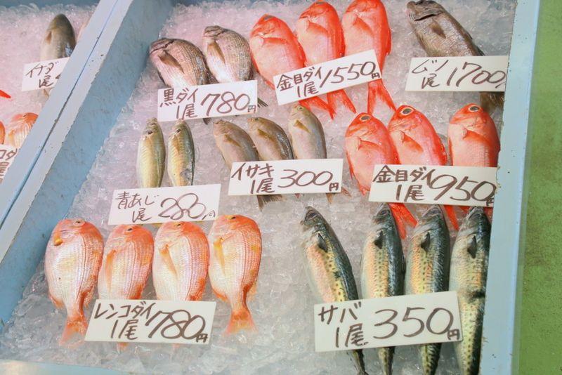 2日目13:30頃:「御前崎海鮮なぶら市場」