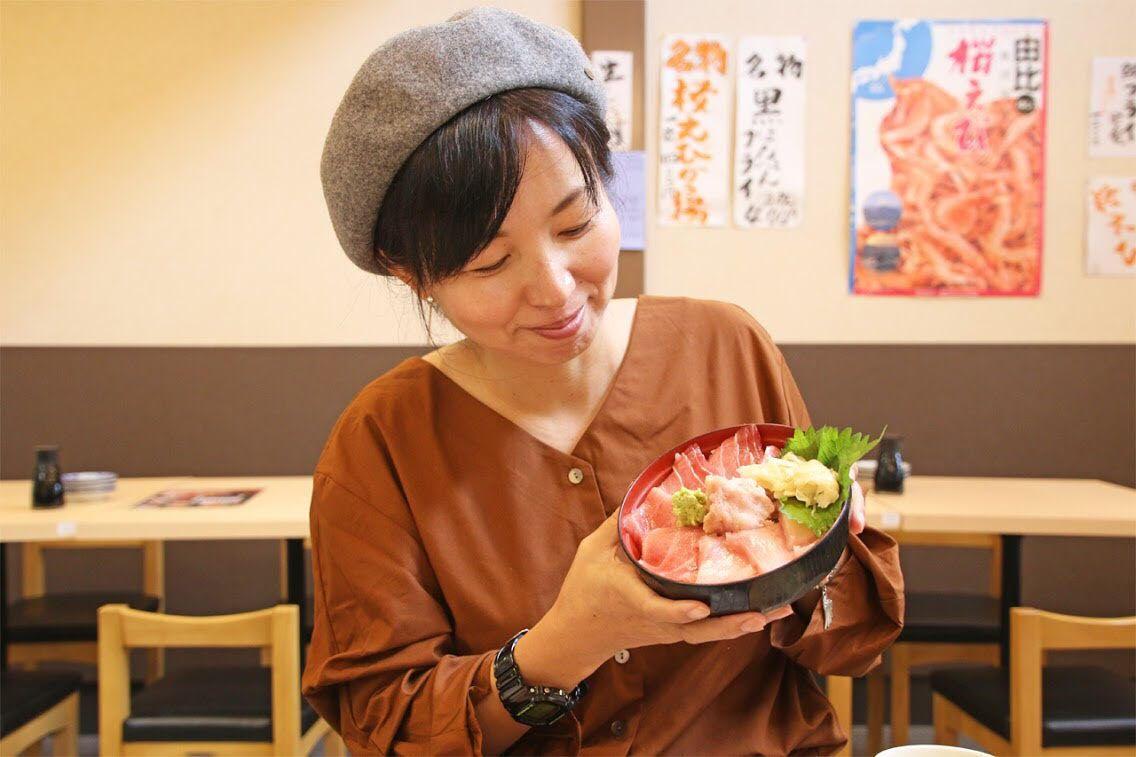 1日目12:40:世界遺産「三保の松原」ドライブ&絶品マグロ丼