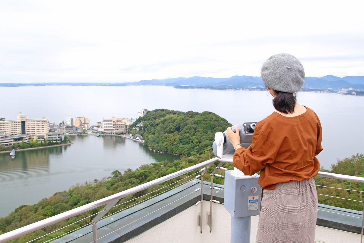 1日目10:00:「浜名湖オルゴールミュージアム」の展望台