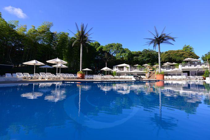 自然が美しいナイトプールも楽しめる「ホテルニューオータニ」