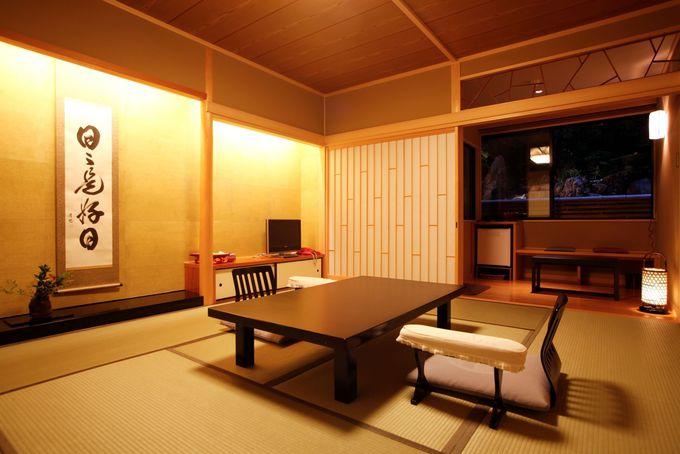 趣が異なる客室に泊まれる「京都 嵐山温泉 渡月亭」