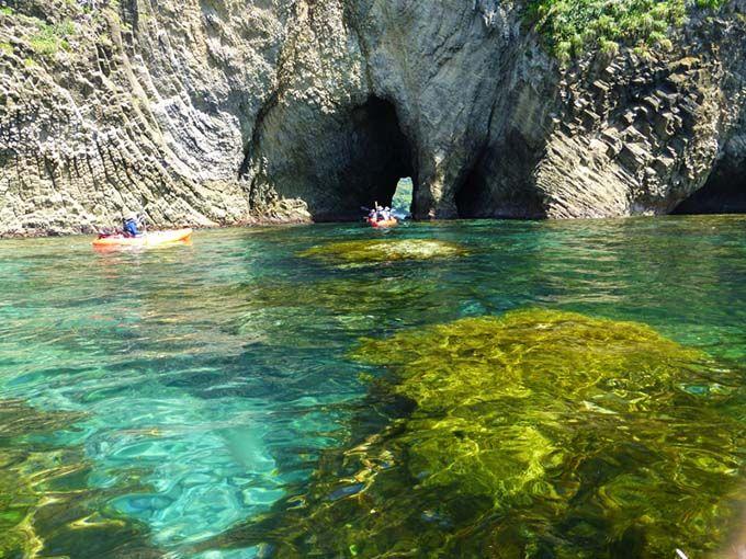 2日目午前:シーカヤックやジオガイドツアーで堂ヶ島周辺を探検