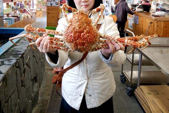 2日目ランチ:どんな味なの!?タカアシガニを堪能