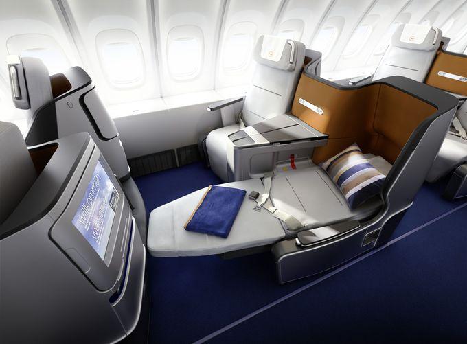2.ビジネスクラスは180度フルフラット!ルフトハンザの座席がすごい