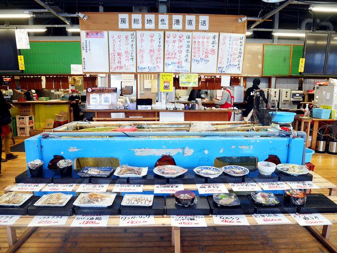 1日目ランチ:漁協直営食堂ばんや本館(鋸南町)