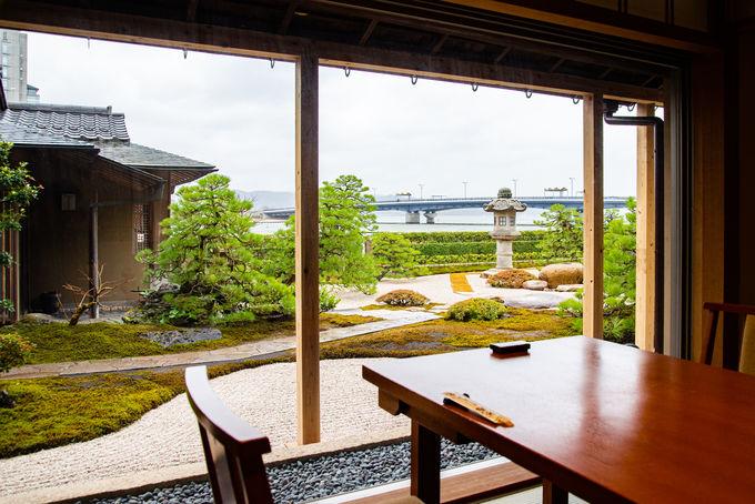 3日目ランチ:絶景の「庭園茶寮みな美」で鯛めしを