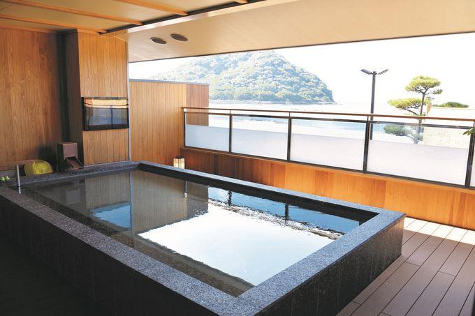 1日目夜:海が目の前!「リゾートホテル美萩」で美食と温泉三昧