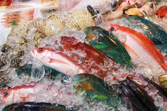 沖縄の海が恵んだフレッシュな海鮮!