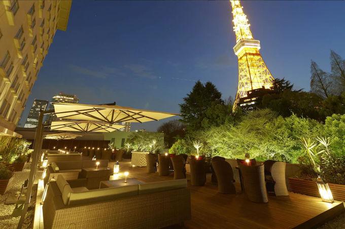 1日目夜:東京タワーが見えるレストランで夕食