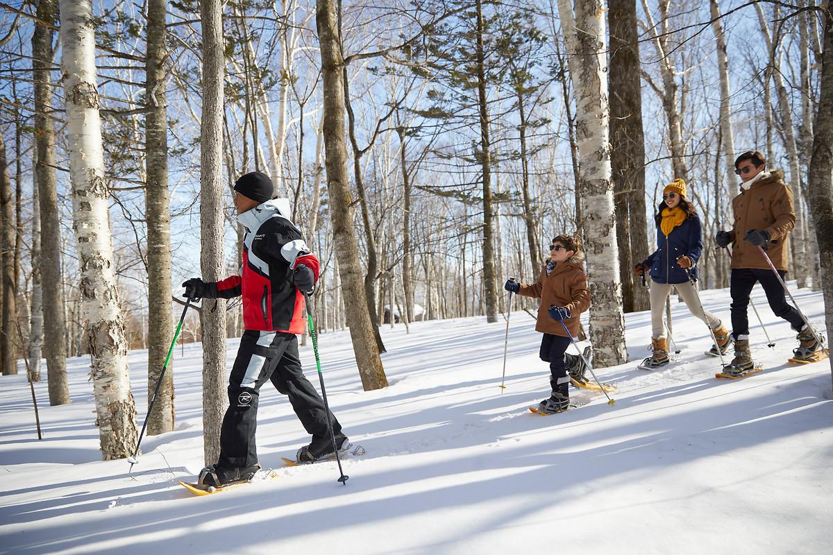 パウダースノーが自慢のスキー場!アフターは絶景バーで