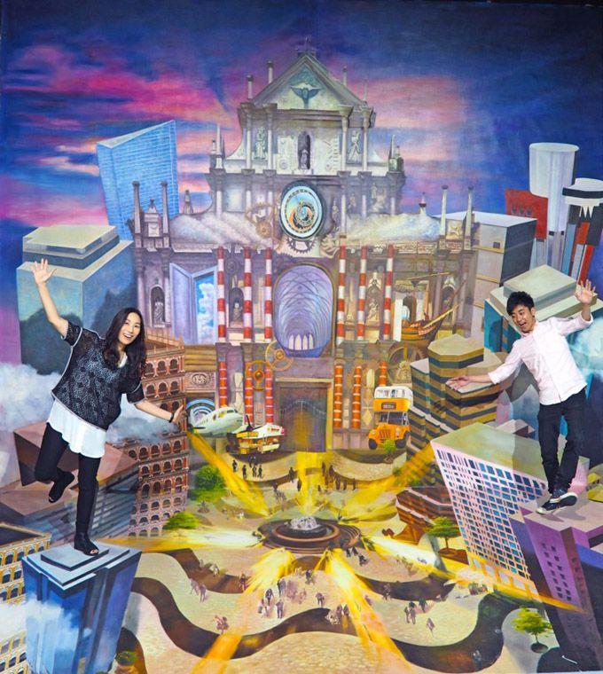 10.「ピア16・3Dワールド」でトリックアートを楽しむ(ソフィテル・マカオ・アット・ポンテ16内)