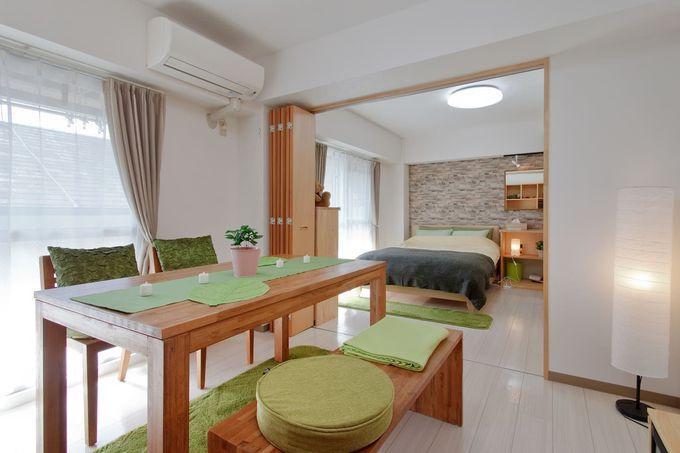 4. 緑を基調とした広いお部屋/奈良市