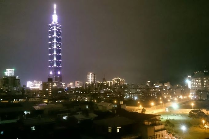 屋上からは台北101が間近に!ホストは日本語もOK/台北市