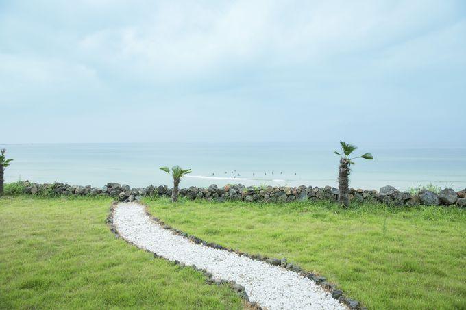 おしゃれカフェで済州の海を眺めながらゆっくり