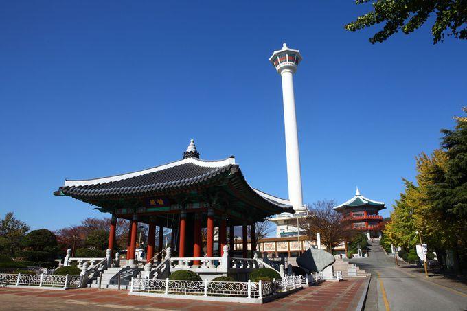 360度パノラマが楽しめる「釜山タワー」