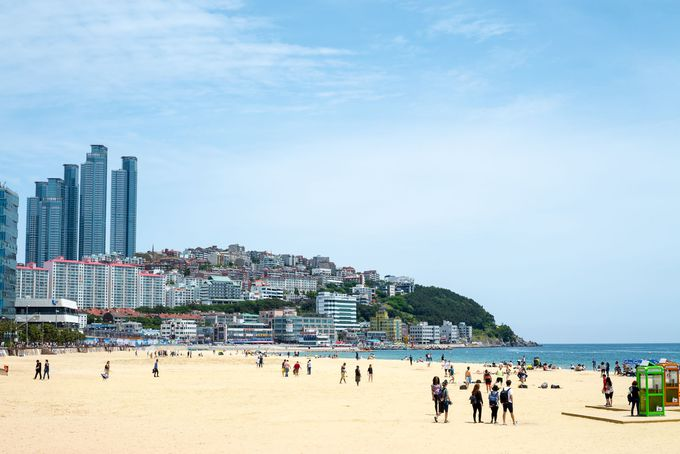 「海雲台ビーチ」は釜山で人気のリゾート