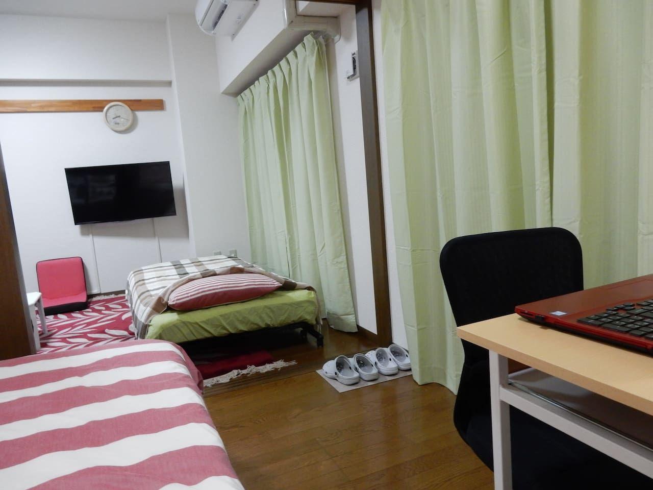 1. マンションの2Kルーム貸切/仙台市